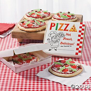 Pizza Party Personal Pan Pizza Boxes   Scenes of Celebration!   Pinte ...
