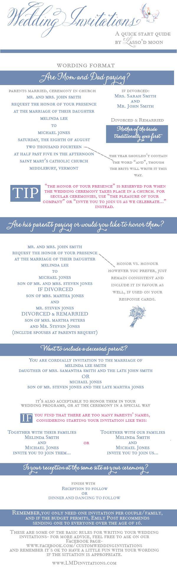 Wedding Wording -