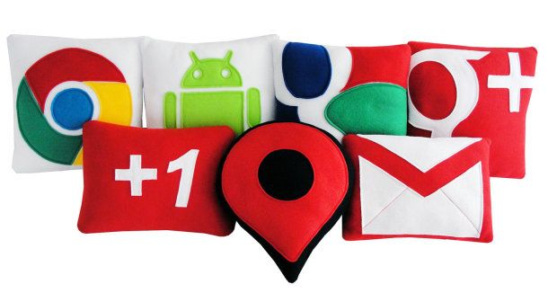 Sweet geek dreams with fluffy Google, Twitter pillows http://cnet.co/NfHhHd