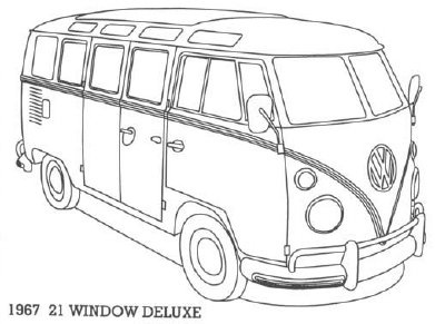 volkswagen bus coloring pages - photo#14