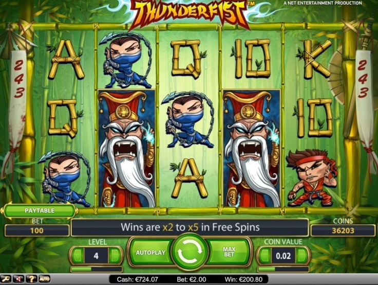 NetEnt ThunderFist Slot Free Game Win You Can Find Hundreds Of Big