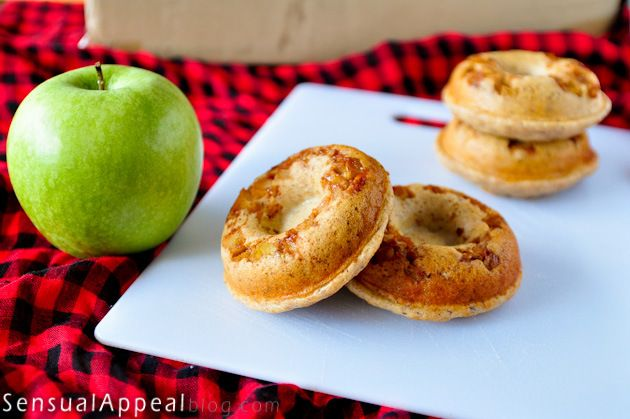 Apple Doughnuts with Protein (vegan, low fat, no sugar added protein ...