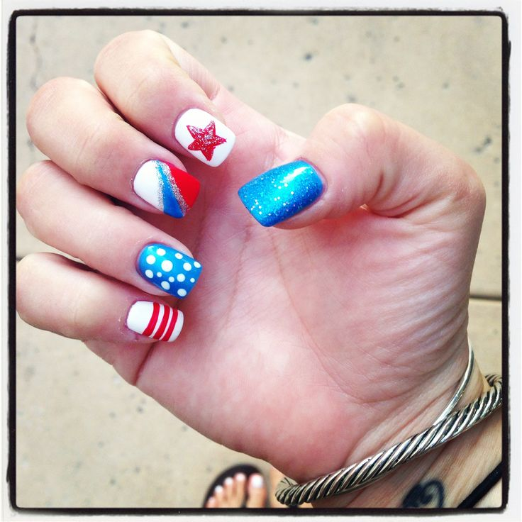 4th of july nail patterns