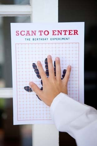 Halloween classroom door decorations ideas - Mad Science Party Scan To Enter The Quot Lab Quot