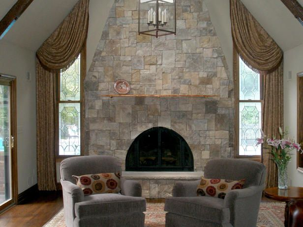 Natural Stone Fireplaces Rooms Hgtv