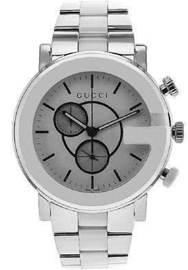 Gucci Men's G Chrono White Dial Stainless Steel