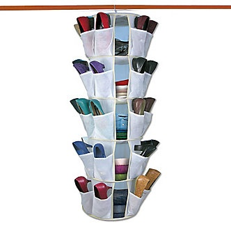 Spinning Closet Organizer. Spinning design, holds up to 40 pairs of shoes.