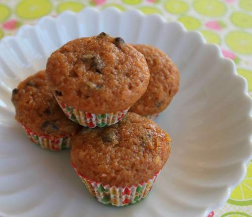 Low Fat Pumpkin & Chocolate Chip Mini Muffins