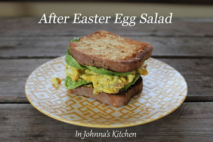 After Easter Egg Salad, quick and easy basic egg salad recipe with ...