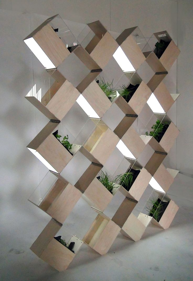 HERB². A vertical indoor herb garden. Designed by Mariann Hildal (Norway) and Milda Liubinskaite (Lithuania).