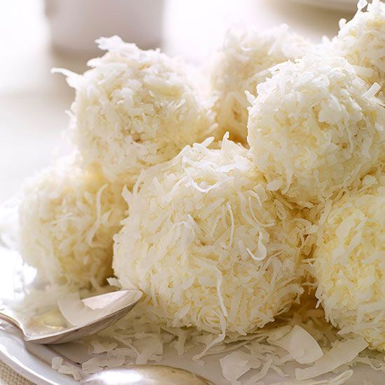 Coconut Snowballs...I could make these all Winter long.
