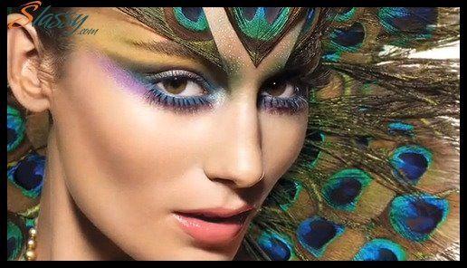 Peacock- Fantasy Makeup   Makeup Morgue   Pinterest Peacock Fantasy Makeup