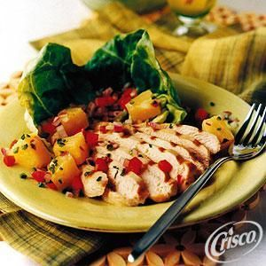 Grilled Caribbean Chicken with Pineapple Salsa from Crisco®