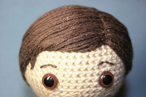Amigurumi Crochet Hair : Yarn Hair Tutorial. Crochet Toys Pinterest