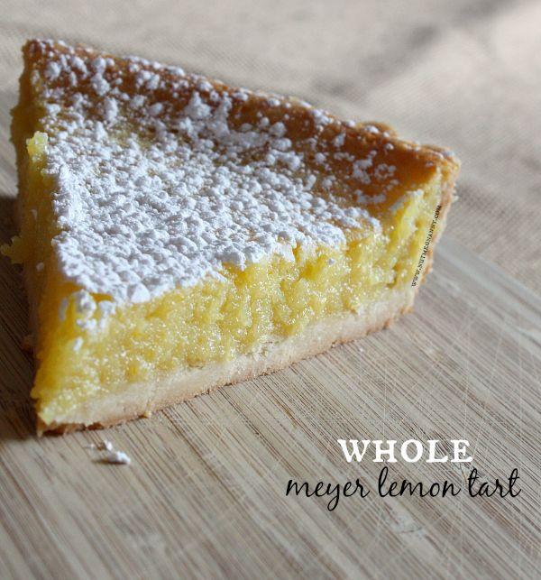 Whole Meyer Lemon Tart by Nutmeg Nanny