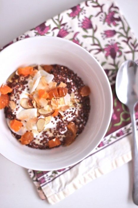 Yogurt with Toasted Quinoa, Almonds & Apricots | TheCornerKitchenBlog ...