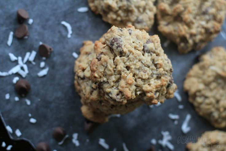 """Healthier"""" Coconut Oatmeal Chocolate Chip Cookies- used 1/2 apple ..."""