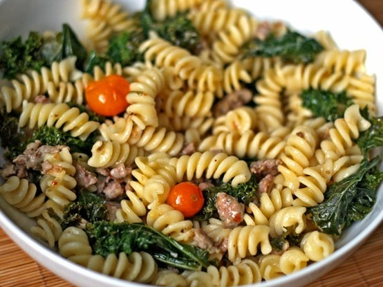 Fusilli with sausage and kale | Yum | Pinterest