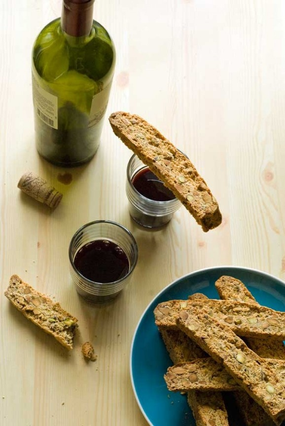 Pistachio And Meyer Lemon Biscotti Recipe — Dishmaps