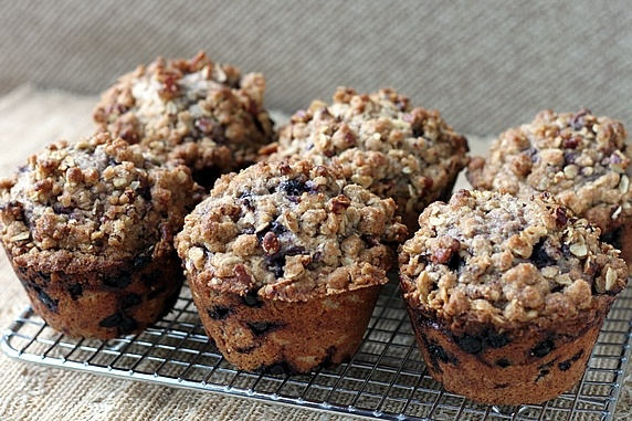 Blueberry Oat Streusel-Topped Muffins | Recipe