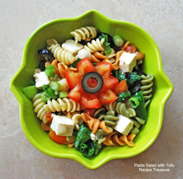 Pasta Salad with Tofu | Recipe Treasure | Food: Pasta | Pinterest