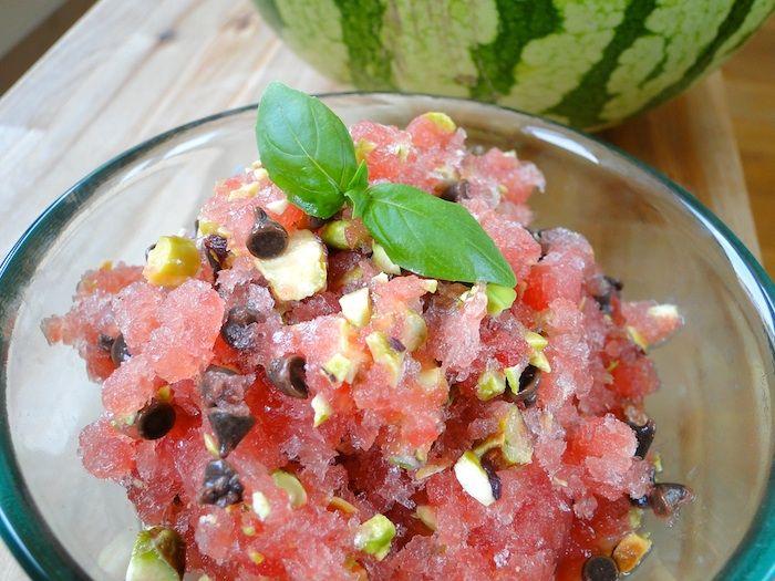 Watermelon granita | Dessert ideas | Pinterest
