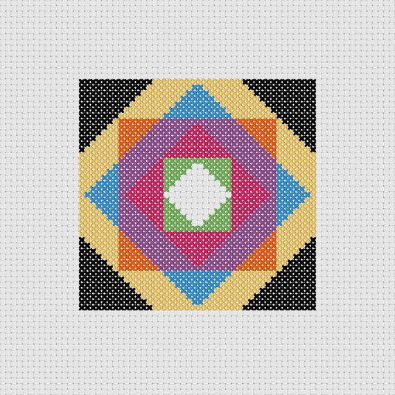 Quilt Patterns Cross Stitch : Cross Stitch Pattern PDF Quilt Block Sampler Easy Beginner
