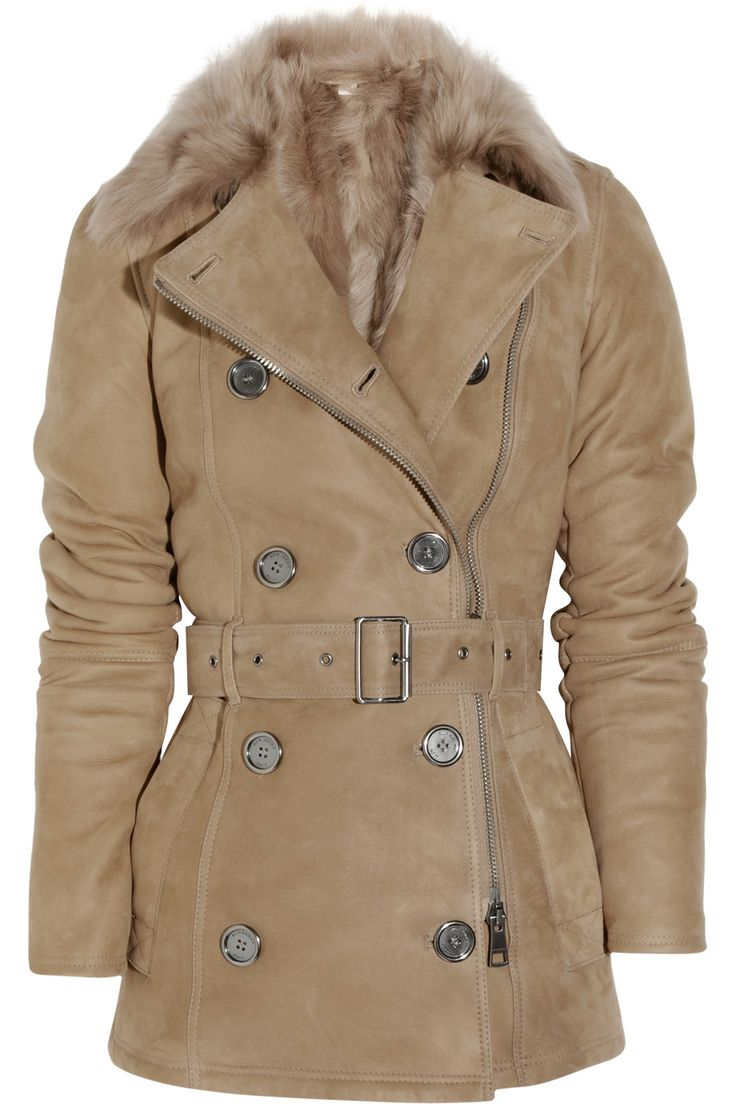 BURBERRY BRIT  Double-breasted shearling coat  £850