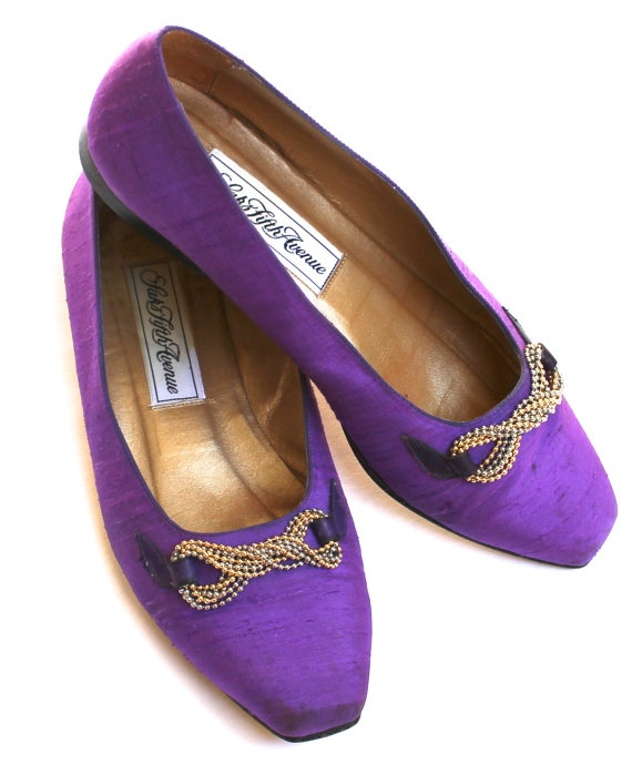 saks fifth avenue vintage purple shoes womens size 6