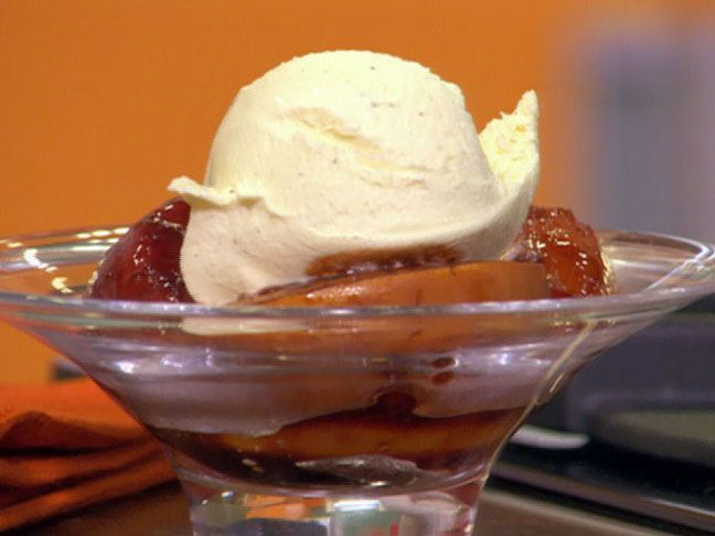 Roasted Stone Fruit with Vanilla Ice Cream from FoodNetwork.com