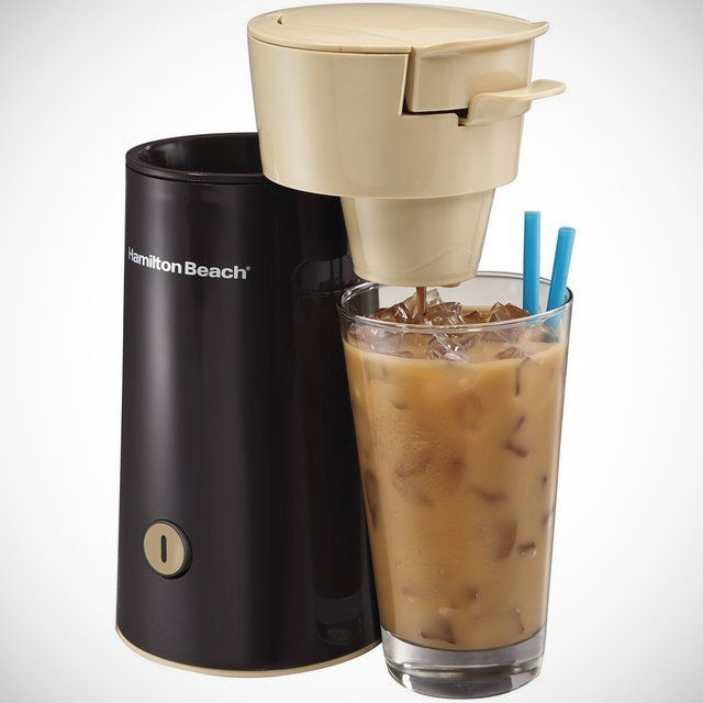 One Cup Iced Coffee Maker : Hamilton Beach Iced Coffee Brewer Food & Drink Pinterest