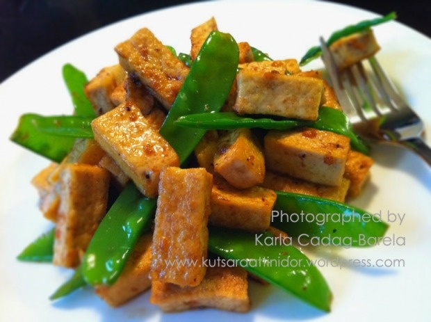 Garlic Tofu with Snow Peas | Vegetarian Eats | Pinterest