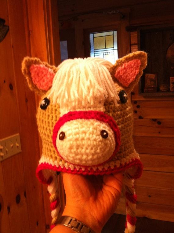 Free Crochet Pattern For Horse Hat : Crochet horse hat crochet Pinterest