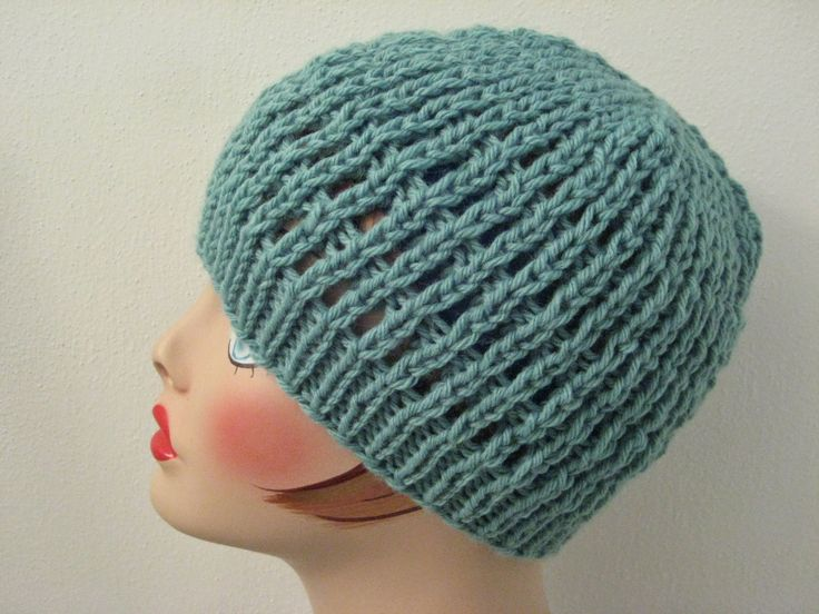 Knitting Pattern Hat Size 9 Needles : Slip-Stitch Mesh Hat: made with just over 100 yards of ...