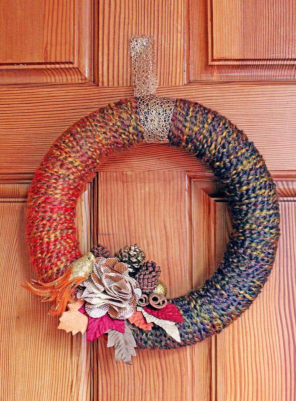 Fall Yarn Wreath Tutorial