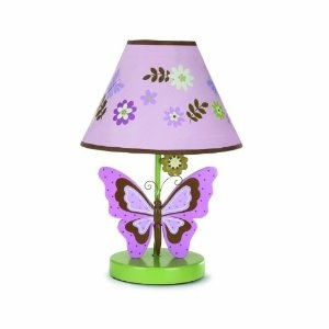 butterfly lamp baby girl fairy flowers themed room pinterest. Black Bedroom Furniture Sets. Home Design Ideas