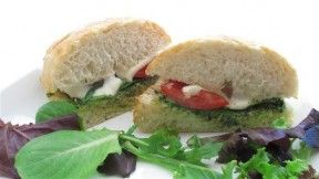 Mozzarella, tomato and pesto melts. I want to get a sandwich press and ...