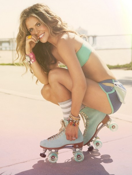 Summer-to-Do #2: Go retro. Dig your old roller skates out of the basement and tour your neighborhood on wheels!