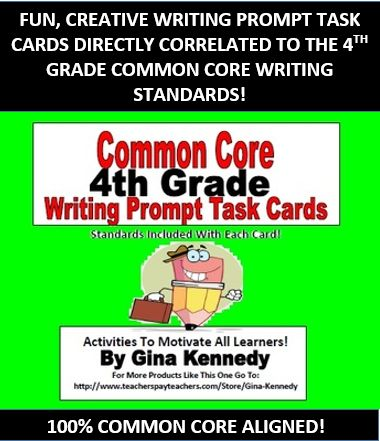 writing prompts 4th grade common core