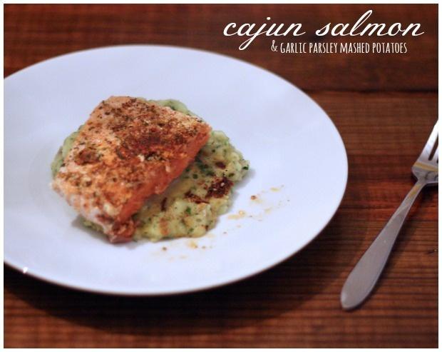cajun salmon & parsley garlic mashed potatoes :: foodloveswriting.com ...