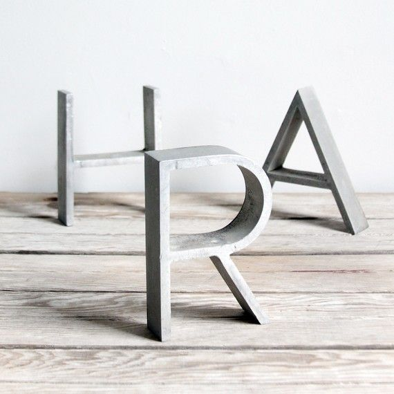 vintage art deco metal sign letters