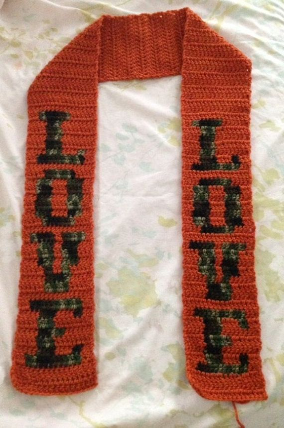 Love Crochet Patterns : Crochet LOVE Scarf Pattern on Etsy, $8.00