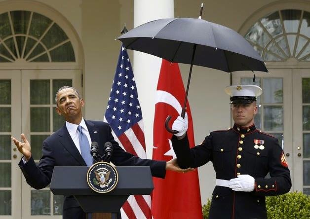 ... uniform dress code does not allow the carrying of an umbrella & 'no