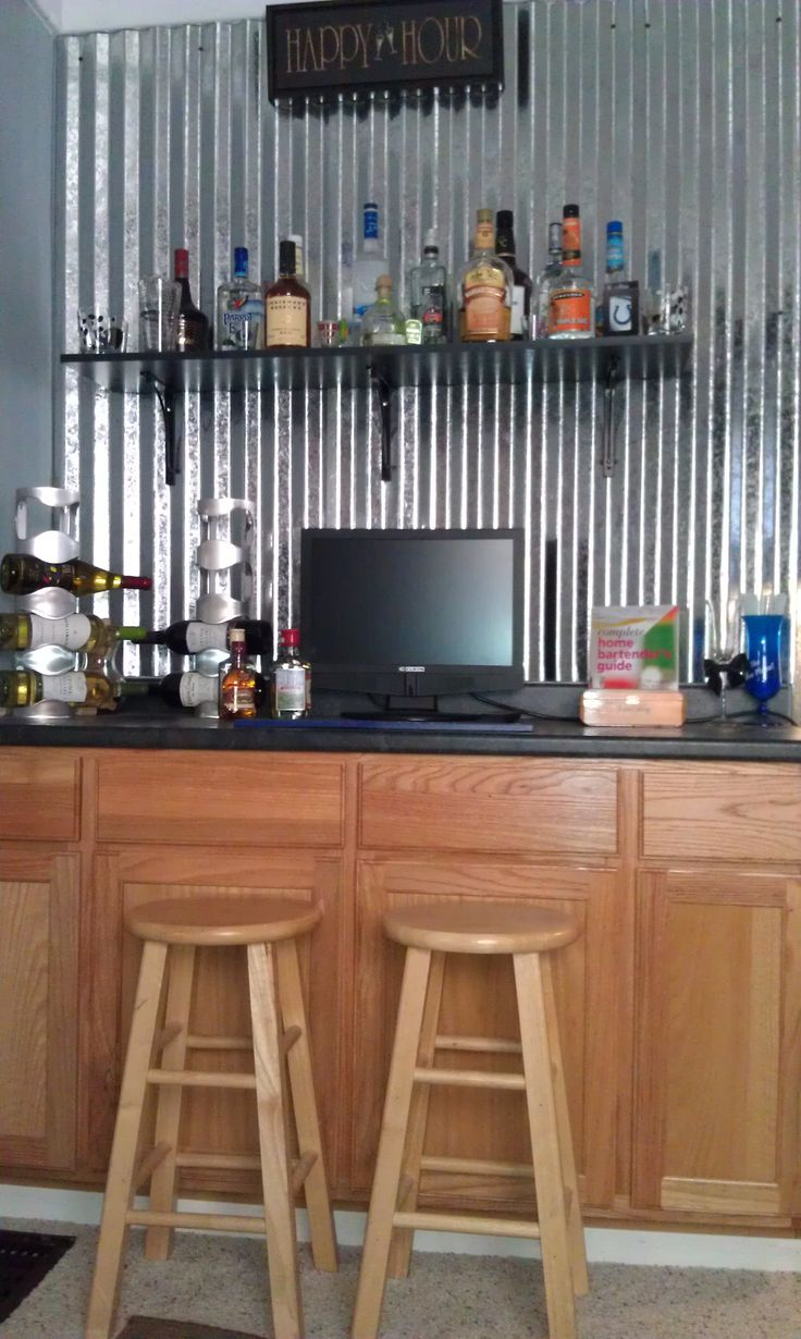how to build a bar with corrugated metal