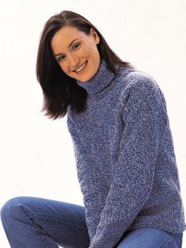 Turtleneck Sweater | Yarn | Free Knitting Patterns | Crochet Patterns