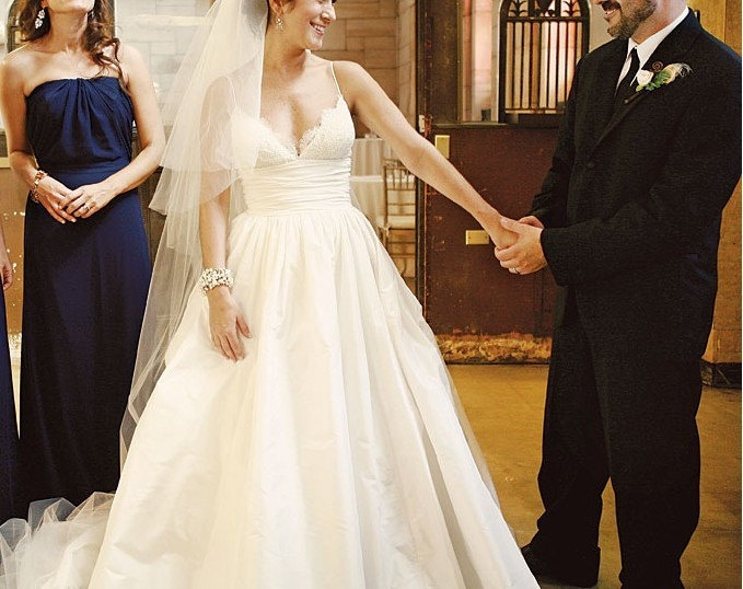 Pin by kathryn andricosky on future mrs smith for Spaghetti strap wedding dress with pockets
