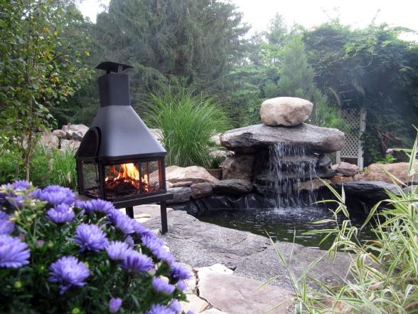 Water Feature Zen Outdoor Living Spaces Pinterest