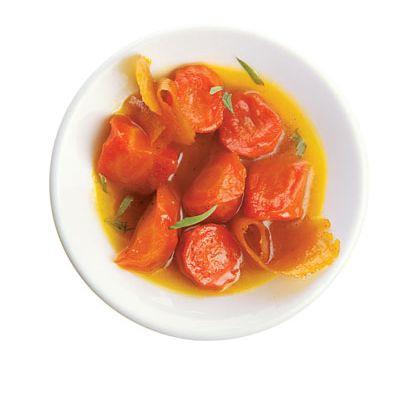 Honey & orange glazed carrots