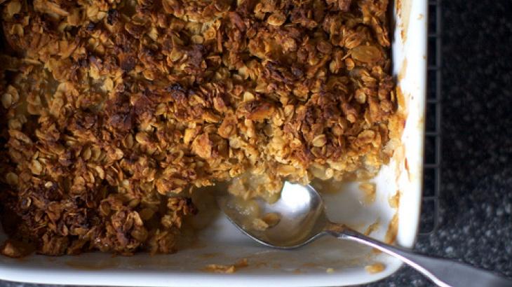 Breakfast Apple Granola Crisp | Good Morning Sunshine | Pinterest
