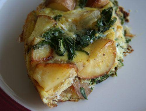kale and potato frittata   bon appetit - breakfast   Pinterest